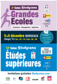 Studyrama organise bordeaux le 12eme salon des etudes for Salon studyrama bordeaux